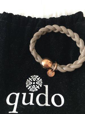 Leather Bracelet grey-rose-gold-coloured