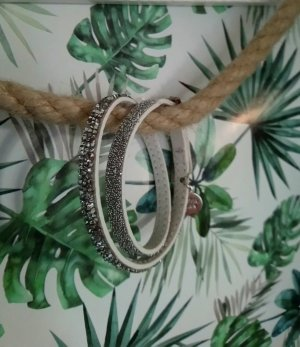 Pippa & Jean Leather Bracelet white