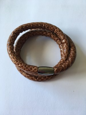 story by kranz & ziegler Leather Bracelet brown-silver-colored