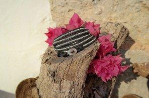 Lederarmband Silbernuggets aus Ibiza