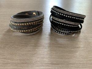 Leather Bracelet black-grey