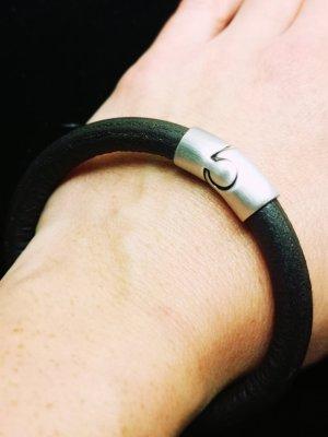 Pippa & Jean Leather Bracelet dark brown leather