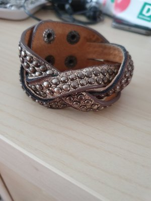 Leather Bracelet bronze-colored