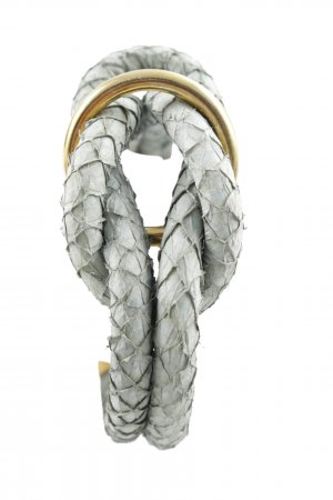 Leather Bracelet sage green-gold-colored extravagant style