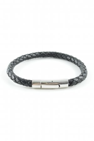 Leather Bracelet black casual look