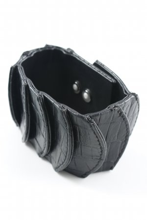 Lederarmschmuck schwarz-silberfarben extravaganter Stil