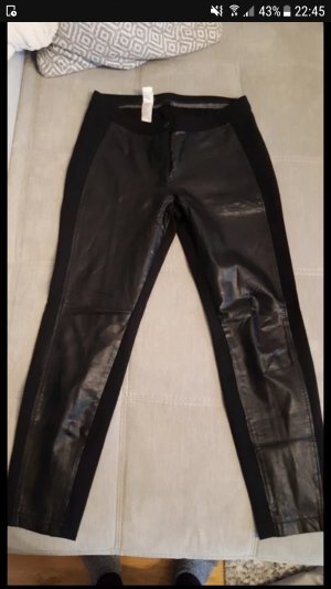 Apanage Pantalone in pelle nero
