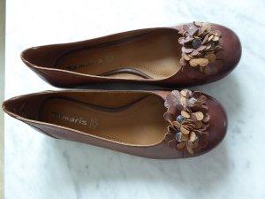 Tamaris Slingback Ballerinas brown