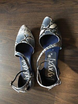 Xyxyx Strappy Ballerinas black-blue leather