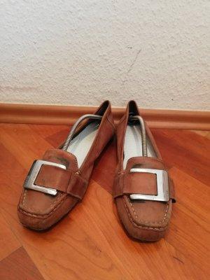 Esprit Mary Jane Ballerinas brown leather