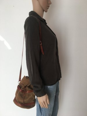 Pouch Bag sand brown-cognac-coloured leather
