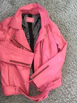 Lederbikerjacke pink neu