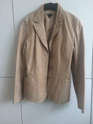 Lindex Leather Blazer beige leather
