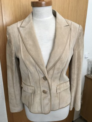 Betty Barclay Leather Blazer oatmeal