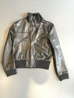 Lederblouson von Marc O'Polo in schwarz mit Bündchen Größe 40