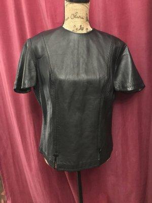 Blouse en cuir noir cuir