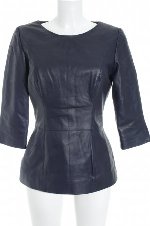 Blouse en cuir noir style extravagant