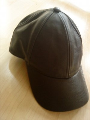Visor Cap black imitation leather