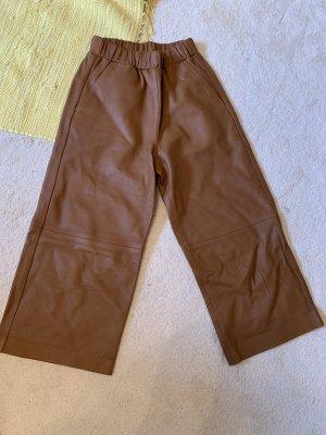H&M Pantalone in pelle cognac