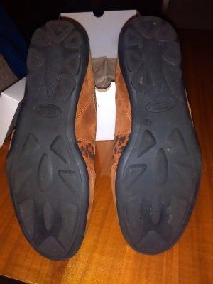 vitaform Sneaker con strappi cognac Pelle