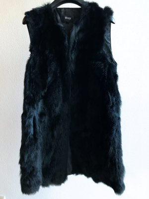 Chaleco de cuero negro