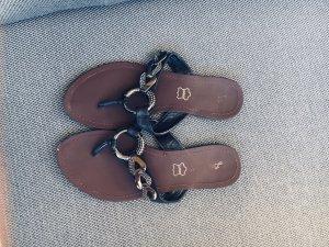 Flip-Flop Sandals black-dark brown
