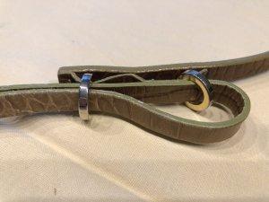 Massimo Dutti Cinturón marrón claro