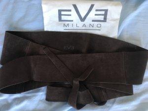 Cinturón reversible color bronce Gamuza