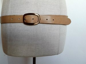 Leather Belt sand brown leather