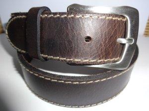 Ceinture en cuir brun foncé cuir