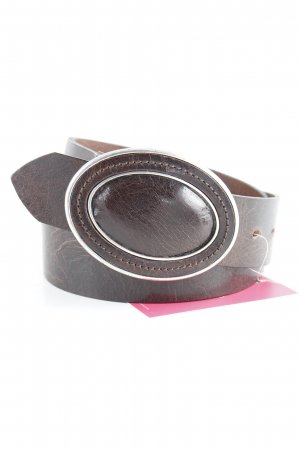 Leather Belt brown abstract pattern casual look
