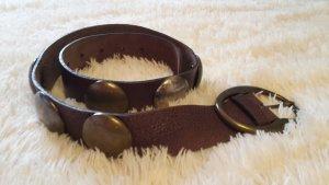 Carlo Colucci Cinturón de cuero marrón oscuro Cuero