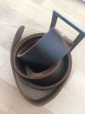 Leather Belt dark brown leather