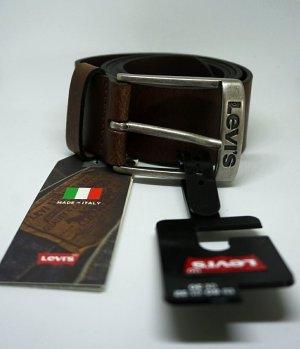 Diesel Cintura di pelle argento-marrone scuro Pelle