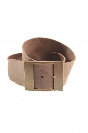 Leather Belt dark brown casual look