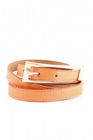 Leather Belt dark orange-gold-colored casual look