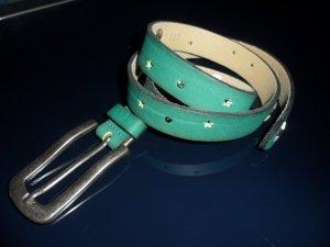 Vanzetti Cinturón de cuero menta-caqui Cuero