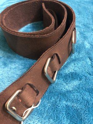 Friendtex Ceinture en cuir brun cuir