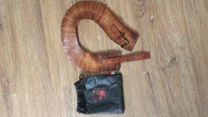 Cinturón de cadera marrón-negro