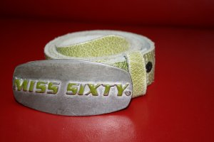 Miss Sixty Leather Belt grass green-olive green leather