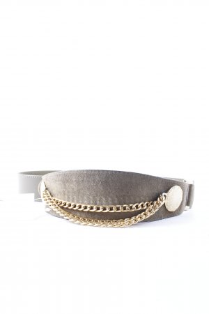 Leather Belt green grey country style