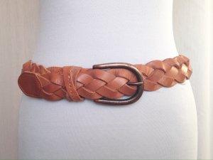 Hugo Boss Braided Belt brown-cognac-coloured