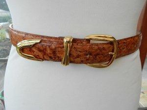 Ledergürtel - Hand Made Italien - Unikat - Korkoptik - 78 cm