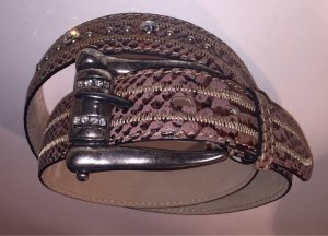 Clan Leather Belt multicolored leather
