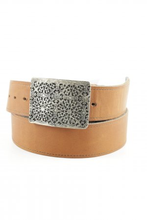 Leather Belt light brown casual look