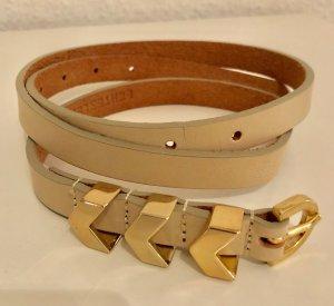 Waist Belt beige leather