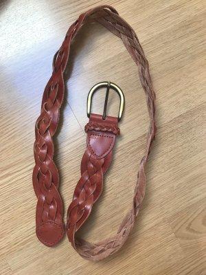 Ledergürtel in Braun 100cm