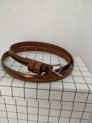 Ledergürtel Kupfer Copper Uniqlo Taillengürtel schmal