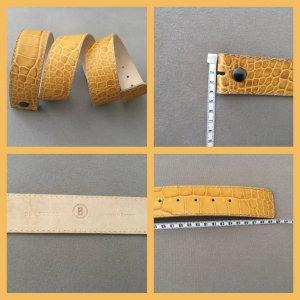 Bogner Cintura di pelle giallo scuro-giallo pallido Pelle