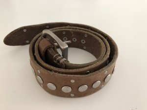 Liebeskind Berlin Leather Belt light brown-grey brown